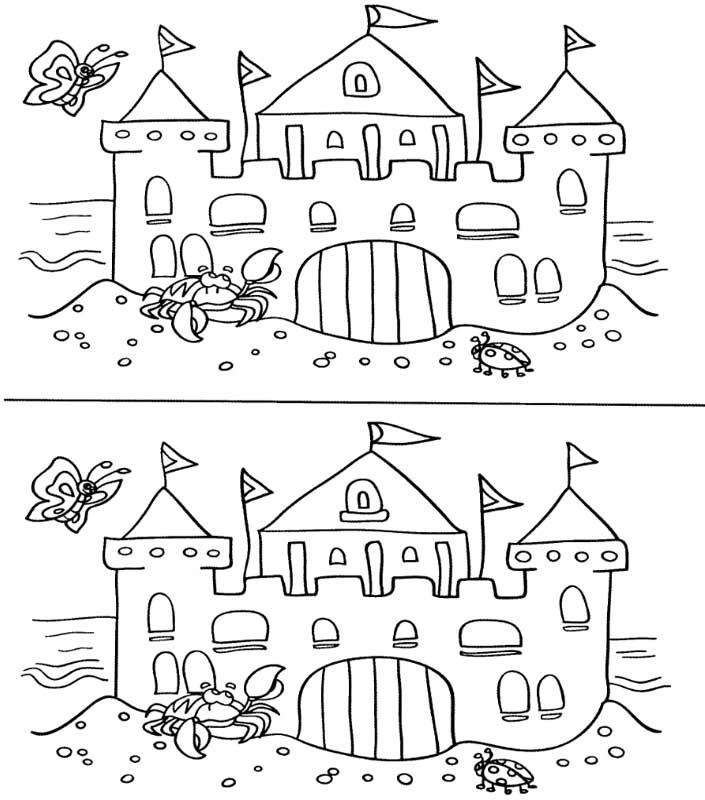 Найди отличия. Зима | Дошкольные учебные мероприятия, Дошкольные ... | 800x705